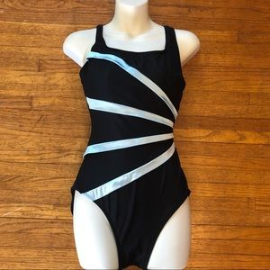 Vintage Bathing Suit Black Small 4/6